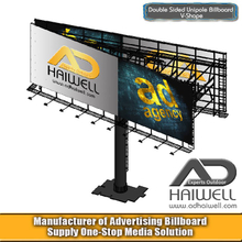 Double Sided V Type Outdoor Advertising Billboard Display Structure