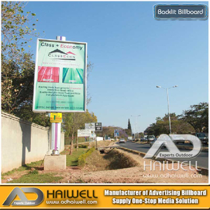 Bright Green Technology Outdoor Illuminated Backlit LED Billboard Advertising Structure