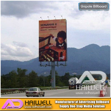 Outdoor Unipole Hoarding Advertising Billboard Structure