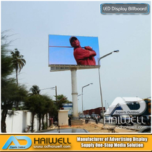 Outdoor Unipole SMD LED Screen Display Advertising Billboard Structure