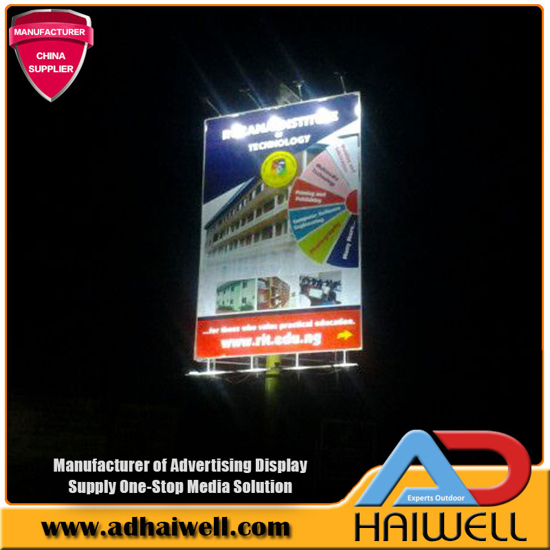Solar Power LED Light Fixtures Billboard Display