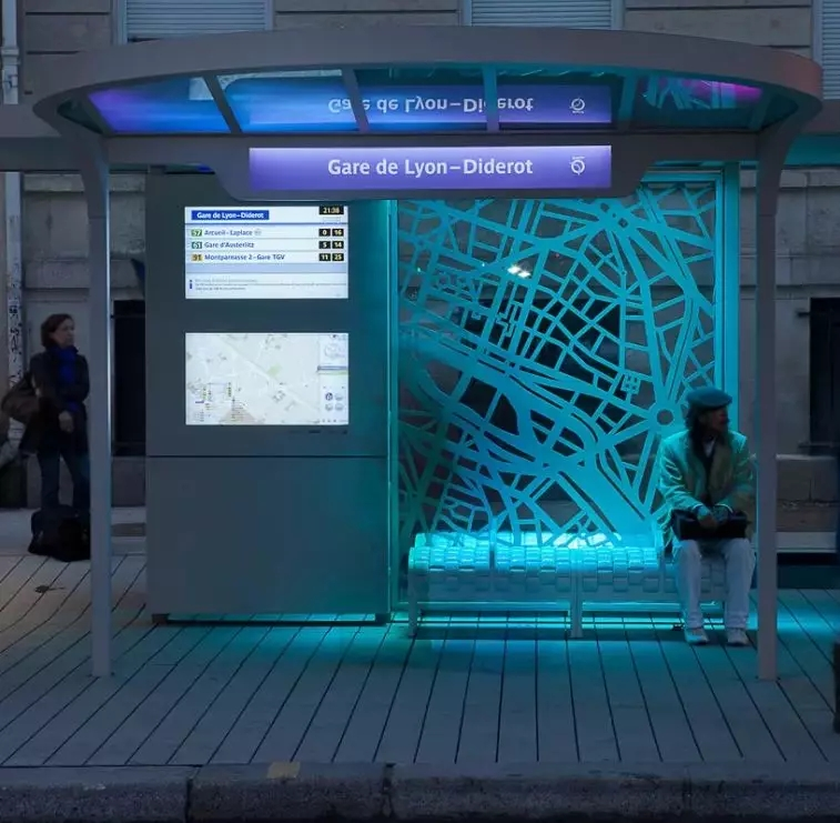 digital map bus shelter