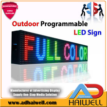 Outdoor Full Color Bar Programmable LED Signage Signs