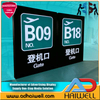 Airport Aluminum Acrylic Led Digital Display Screen Directional Signage