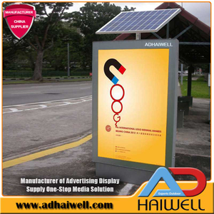 Solar Street System LED Advertising Bus Shelter Light Box