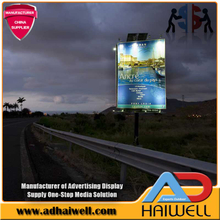 Solar Powered Steel Digital LED Advertising Billboard Structures