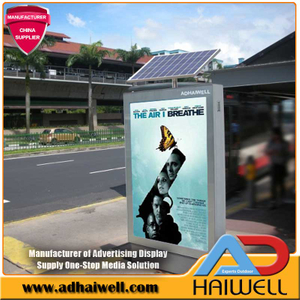 Solar Powered Street Advertising Scrolling Light Box